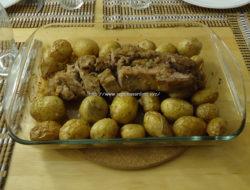 Lombinhos de porco no forno com farinheira